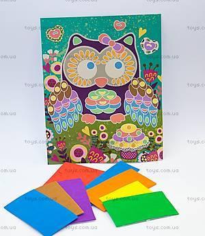 Объемная картина «Сова с грибочком», 57423, купить
