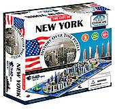 Объемный пазл Нью-Йорк, 840 элементов, 4D Cityscape (174201), 40010