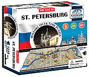 Объемный пазл Санкт-Петербург, 1245 элементов, 4D Cityscape (174205), 40036
