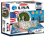 Объемный пазл Соединенные Штаты Америки, 950 элементов, 4D Cityscape (174207), 40008