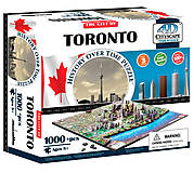 Объемный пазл Торонто, 1000 элементов, 4D Cityscape (174208), 40016