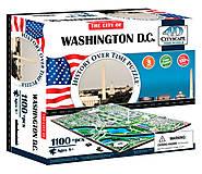 Объемный пазл Вашингтон, 1100 элементов, 4D Cityscape (174197), 40018, фото