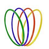 Обруч цветной (пластиковый), 0168, toys