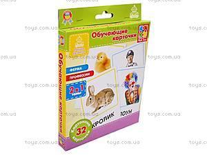 Обучающие карточки «Ферма и профессии», VT1301-03, детские игрушки