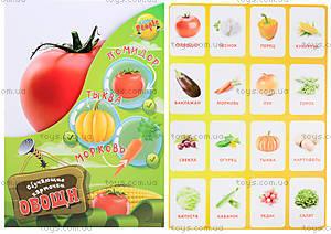Обучающие карточки «Овощи»,