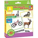 Обучающие карточки  «Транспорт и лесные жители», VT1301-04, купить