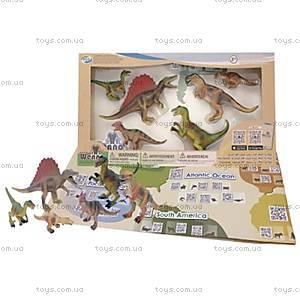 Обучающий игровой набор с QR-картой «ХИЩНЫЕ ДИНОЗАВРЫ», WCD1701