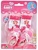 Обувь розовая и носки для пупса, 556 0844-1, купить