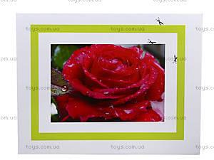 Объёмная картинка-аппликация «Роза», 6552, фото