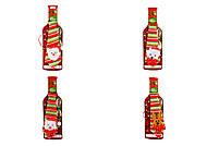 """Чехол на бутылку """"Новогодний галстук"""", 4 вида, 623453, іграшки"""