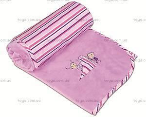 Одеяло детское для новорожденных Love, фиолетовое, 0136-19