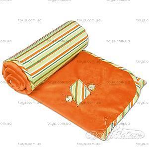 Одеяло детское для новорожденных Love, оранжевое, 0136-49