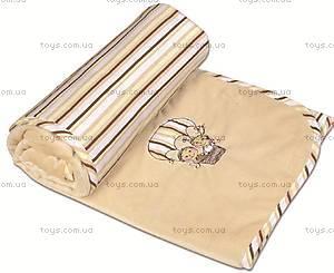 Одеяло детское Love, бежевое, 0137-16