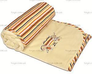 Одеяло детское Love, молочное, 0137-2