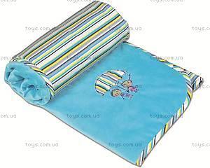 Одеяло для новорожденных Love, голубое, 0136-31