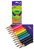 Карандаши цветные ZiBi Smart Line 12 цветов , ZB.2424, цена