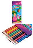 """Набор цветных карандашей """"Ppincess"""", 12 цветов, гнущиеся, 7564, toys.com.ua"""