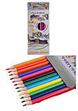 """Набор цветных карандашей """"Street style"""", гнущиеся 12 цветов, 7563, детские игрушки"""
