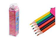 """Карандаши цветные 6 цветов, гнущиеся """"Butterflies""""(6 штук в упаковке), 7561, іграшки"""
