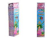 """Набор цветных карандашей """"Pincess"""", 6 цветов, гнущиеся (6 наборов в упаковке), 7560, игрушка"""