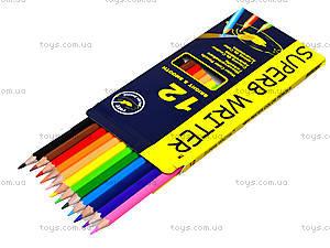 Цветные акварельные карандаши Marco Superb Writer, 12 цветов, 4120-12CB, фото