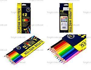 Цветные акварельные карандаши Marco Superb Writer, 12 цветов, 4120-12CB