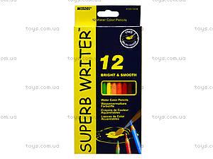 Цветные акварельные карандаши Marco Superb Writer, 12 цветов, 4120-12CB, отзывы