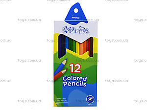 Цветные карандаши Marco Colorite, 12 цветов, 1100-12CB, цена
