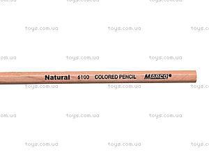 Цветные карандаши Natural-Cedarlite, 12 цветов, 6100-12CB, фото