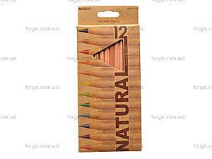 Цветные карандаши Natural-Cedarlite, 12 цветов, 6100-12CB, цена