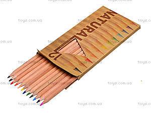 Цветные карандаши Natural-Cedarlite, 12 цветов, 6100-12CB, игрушки