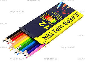 Цветные карандаши Marco Superb Writer, 12 цветов, 4100-12CB, фото