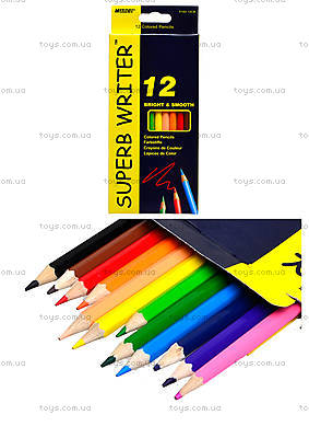 Цветные карандаши Marco Superb Writer, 12 цветов, 4100-12CB