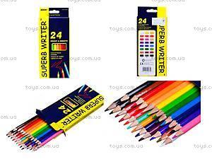 Цветные карандаши Marco Superb Writer, 24 цвета, 4100-24СВ