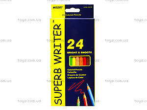 Цветные карандаши Marco Superb Writer, 24 цвета, 4100-24СВ, цена
