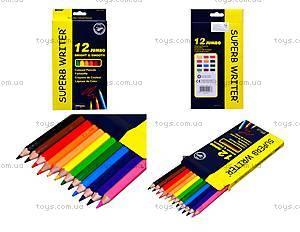 Цветные карандаши Marco Jumbo, 12 цветов, 4400-12СВ