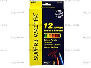 Цветные карандаши Marco Jumbo, 12 цветов, 4400-12СВ, отзывы