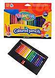 Карандаши цветные Jumbo с точилкой 20 штук, 20 цветов, 32971PTR, купить