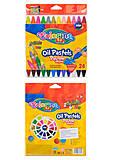 Пастель масляная Colorino трехгранная, 24 цвета, 36085PTR, игрушки