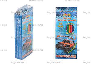 """Карандаши пластиковые """"HIGH SPEED"""", 12 цветов (4 набора в упаковке), 13318"""