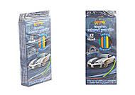 """Карандаши пластиковые """"STREET RACING"""", 12 цветов (4 набора в упаковке), 13319, тойс"""