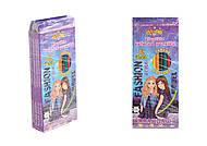 "Карандаши пластиковые ""SUPER MODEL"", 12 цветов (4 набора в упаковке), 13320, игрушки"