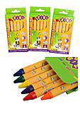Карандаши восковые, 6 цветов (3 набора в упаковке), ZB.2480, опт