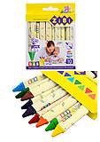 """Карандаши восковые """"Jumbo"""", трехгранные, 10 цветов, ZB.2482, отзывы"""