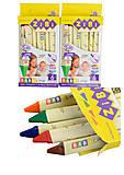 Карандаши восковые BABY Line Jumbo трехгранные, 6 цветов (2 набора в упаковке), ZB.2483, оптом