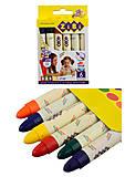 Карандаши восковые SUPER JUMBO, 6 цветов, круглый корпус, BABY Line, ZB.2484, купить
