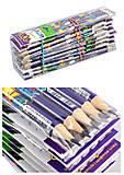 Набор карандашей графитовые 5 штук EXOTIC HB, з резинкой (10 наборов в упаковке), ZB.2313-5, toys.com.ua