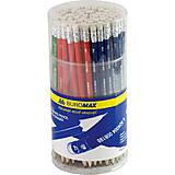 Карандаш графитовый НВ, ассорти, с резинкой (100шт в упак), BM.8501, игрушки