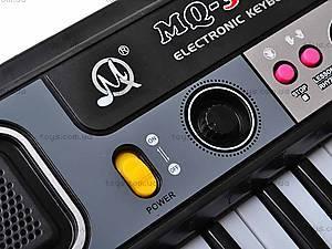 Орган для детей с микрофоном, 37 клавиш, MQ3709, магазин игрушек