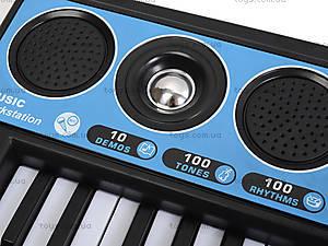Электронное пианино с микрофоном, MQ-017FM, магазин игрушек